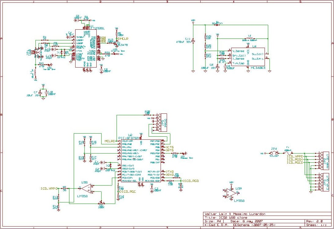 Icd2 Usb Clone Pic Software Pcb Designer Circuit Microchip Ic Programmer This Has Been Adapted From Lothar Stolz Design
